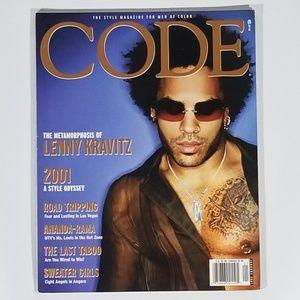 Code Magazine Featuring Lenny Kravitz